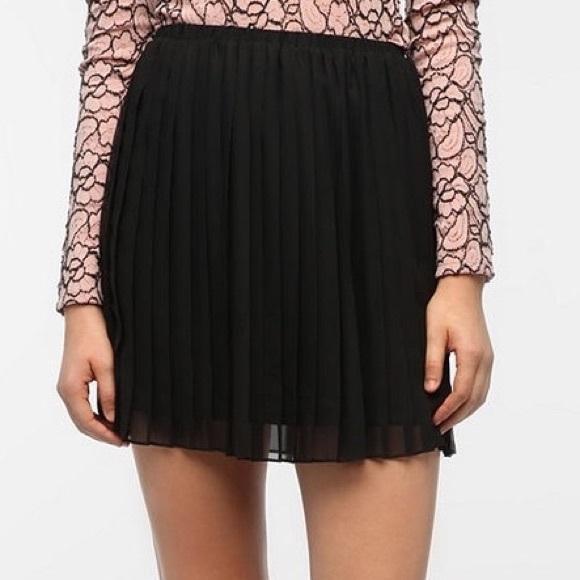 Zara Other - Zara black pleated chiffon skirt